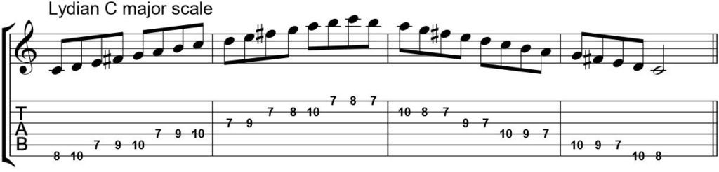 modes for guitar lydian