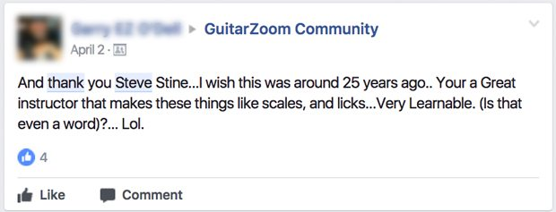 Scales licks facebook comment