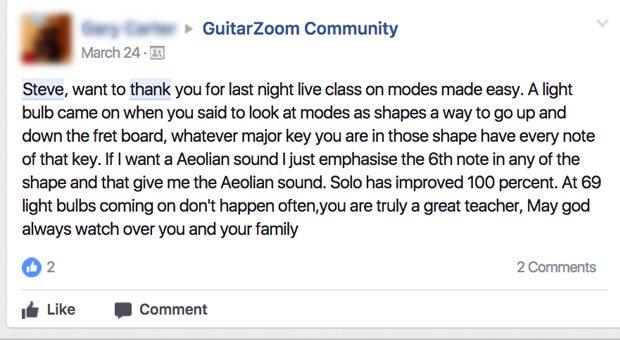 Modes shapes solo facebook comment